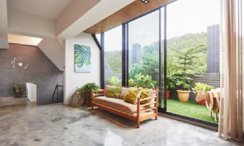 水泥建造的别墅风情 现代简约别墅效果图欣赏
