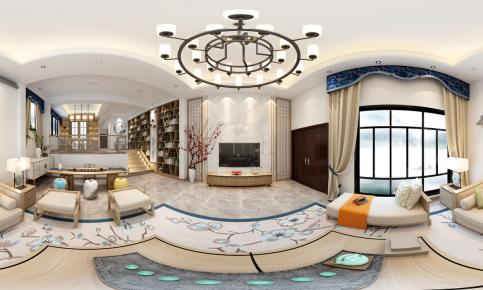 厦门星海湾新中式别墅设计效果图