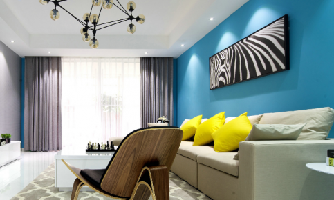蓝色调北欧风家装设计案例 蓝色调北欧风家装效果图赏析
