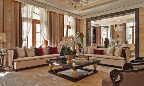 金碧辉煌的欧式别墅装修设计案例 金碧辉煌的欧式别墅效果图欣赏