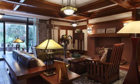红木打造的欧式风格别墅装修设计案例 红木打造的欧式别墅效果图赏析