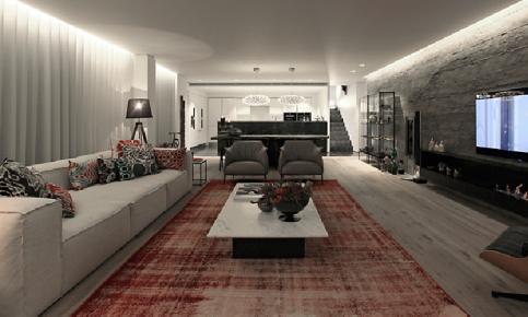 深色调北欧大宅装修设计案例 深色调北欧大宅效果图欣赏