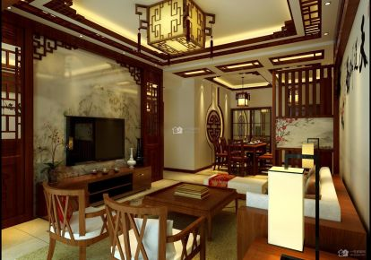 贵阳美的林城时代145中式装修