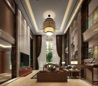 佛山依云水岸92栋 中式别墅装修设计效果图