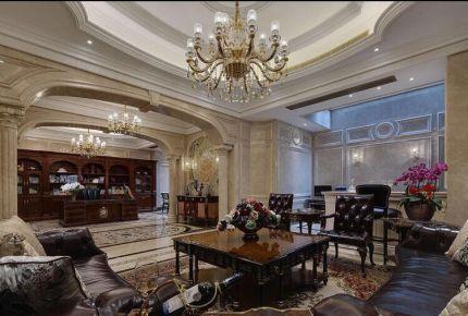 长沙湖畔小区 九方生活欧式别墅装修设计效果图