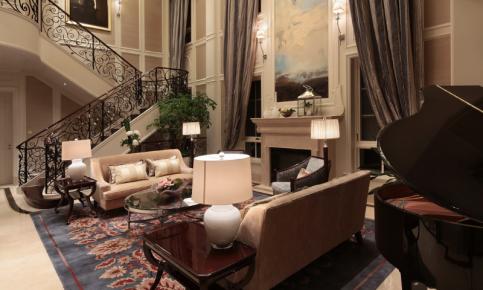美式风格家装别墅装修设计案例 美式风格家装别墅效果图欣赏