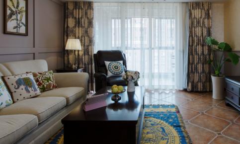 现代美式风格二居装修设计案例 现代美式风格二居效果图欣赏