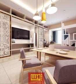 泉州御龙庭小户型单身公寓装修效果图