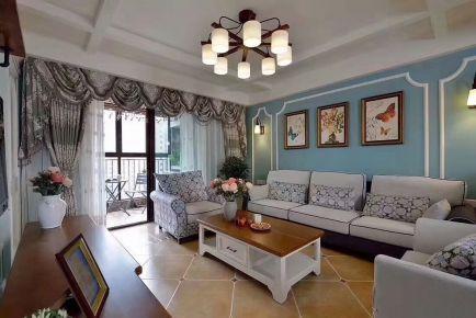 长沙鑫远和城 三居室地中海风格装修设计效果图