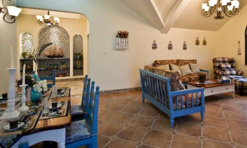 地中海风格二居装修设计案例 地中海风格二居效果图欣赏
