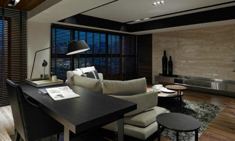 黑色调后现代两居装修 黑色调后现代效果图欣赏