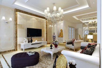西安兴庆宫 二居室现代风格装修设计效果图