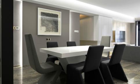 现代黑白色调家装设计案例 黑白色调家装效果图欣赏