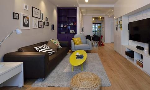 现代简约二居装修设计案例 现代简约二居效果图欣赏