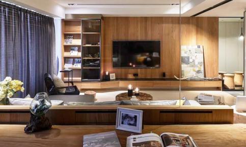 现代原木家装设计案例 现代原木家装效果图欣赏