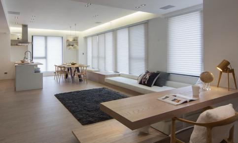 北欧原木家居装修设计案例 北欧原木效果图欣赏