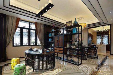 扬州中式风格三房装修设计欣赏 香格里拉花园