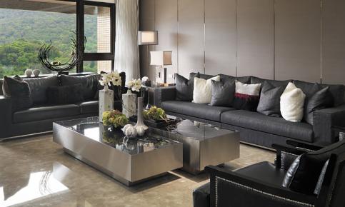 现代黑色调风格家装设计案例 现代风格效果图欣赏