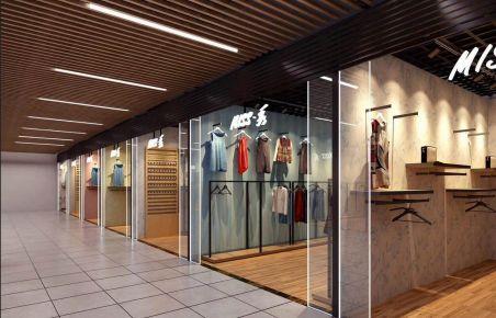 青岛宝龙商场创意混搭风格商铺装修效果图