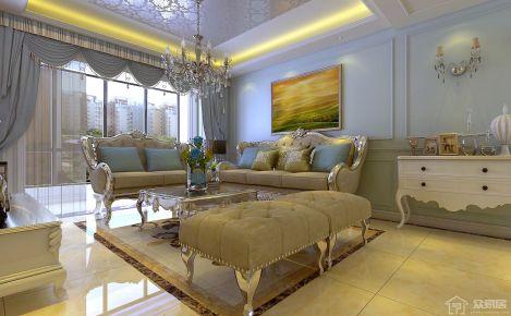 贵阳首开紫郡121平米欧式风格家庭装修