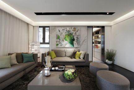 重庆凤凰城三房装修设计 现代风格三房装修效果图