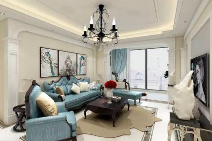 惠州美丽州欧式风格四居室装修效果图