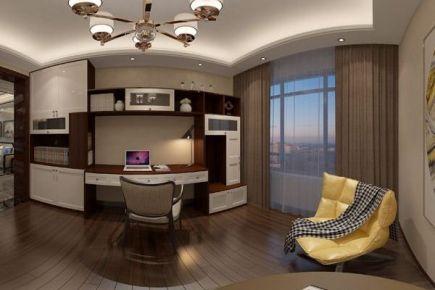 佛山西樵中海山湖世家新中式风格三居室装修效果图