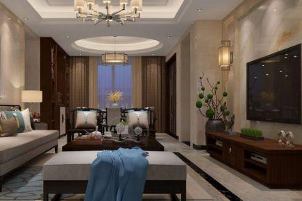 佛山中海山湖世家新中式四居室装修效果图