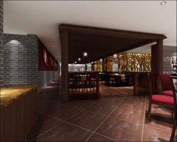酒店餐厅复古风格装修效果图
