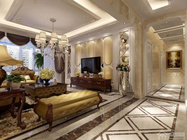 简单的奢侈 欧式风格三房装修设计效果图