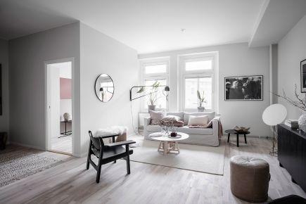 开放式衣帽间,北欧93平米3室公寓