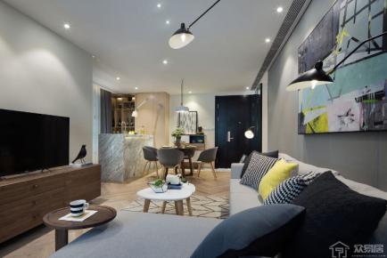 北欧风格三居室装修案例