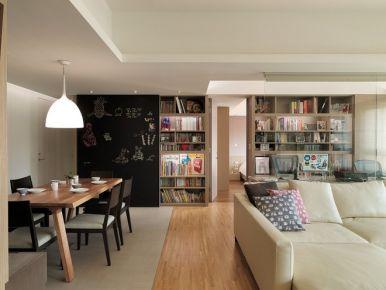 简约3居!开敞式书房装修设计效果图