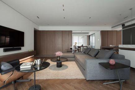 心海阳光现代风格四居室装修效果图