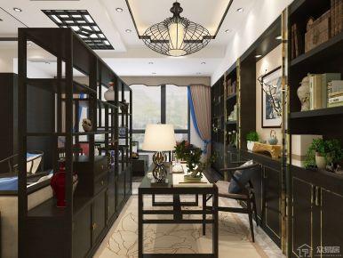 武汉新洲区银森源小区新中式风格装修效果图