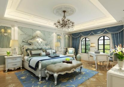 上海东郊罗兰别墅欧式风格设计案例
