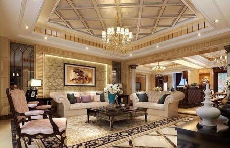 欧式风格两居室装修效果图