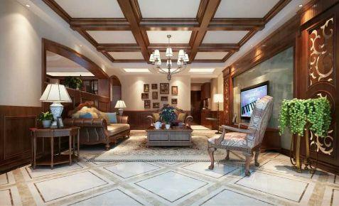 银盛泰德君小区285平四层三厅三卫装修效果图