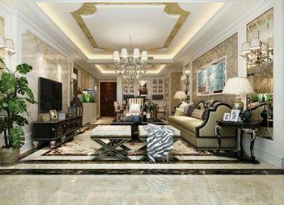 蓝山湾三期128平欧式风格三室二厅二卫装修效果图