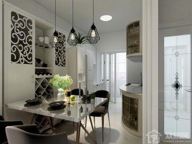鲁能7号院 中式风格三居室装修设计效果图欣赏