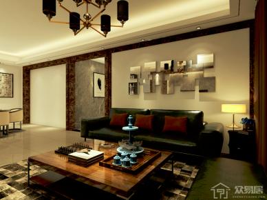 广州自由人花园现代四居室装修案例