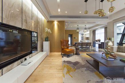 158m²现代风三房装修效果图 现代风格三房装修设计欣赏