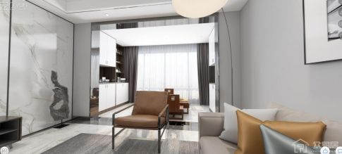 皇庭美域  简约风格三房装修设计效果图