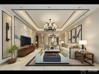 福州首占一号 美式风格四房装修设计效果图