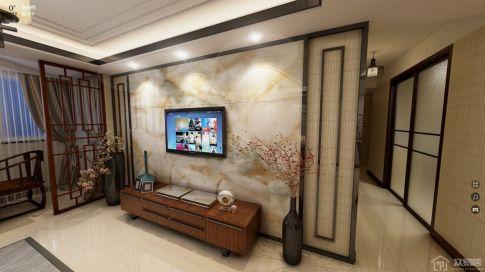 新中式风格四房装修设计欣赏-腊梅香