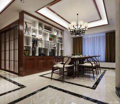 怡翠玫瑰园仇生 中式风格三房装修效果图欣赏