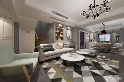 美式风格家庭装修设计 美式风格三房装修效果图