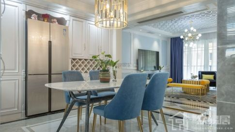 重庆凡尔赛三居室|法式风格装修|实景案例图