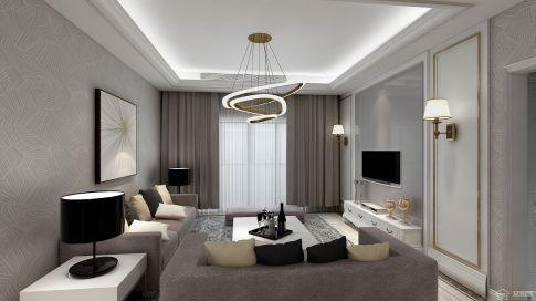 泰州小区家装设计 现代风格三房装修效果图