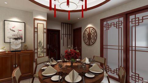 中式风格三房装修设计 中式风格家装效果图欣赏